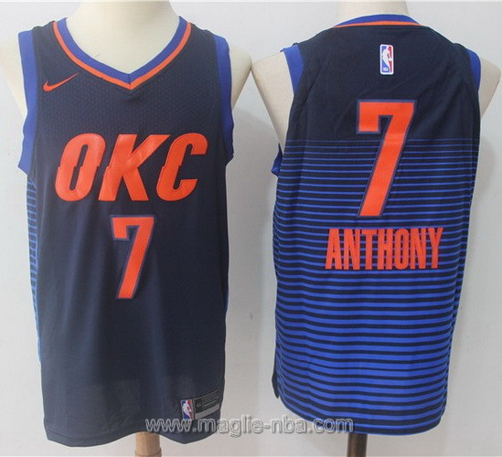 Maglia nba Nike Swingman #7 Carmelo Anthony blu scuro Oklahoma City Thunder
