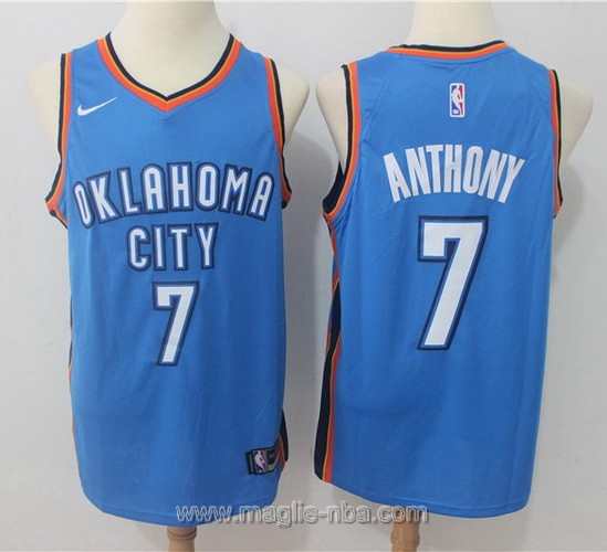 Maglia nba Oklahoma City Thunder #7 Carmelo Anthony 2017 2018 blu