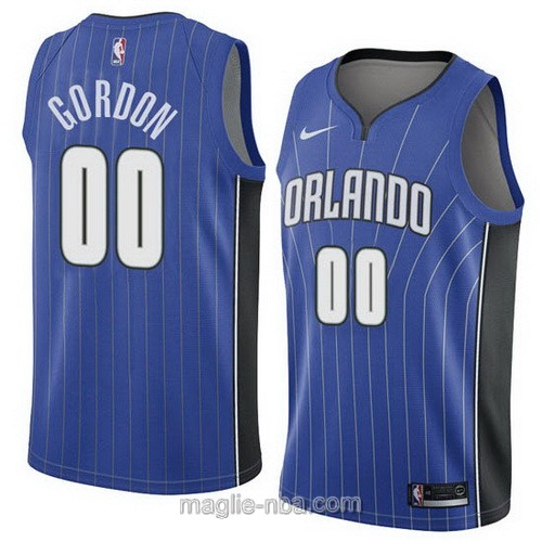 Maglia nba Orlando Magic #00 Aaron Gordon blu