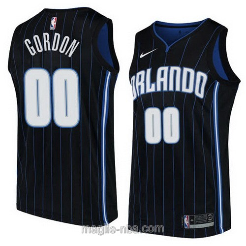 Maglia nba Orlando Magic #00 Aaron Gordon nero