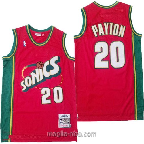 Maglia nba Seattle SuperSonics #20 Gary Payton rosso