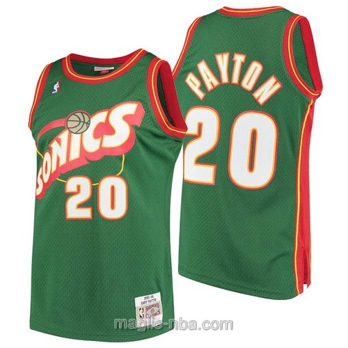 Maglia nba Seattle SuperSonics #20 Gary Payton verde