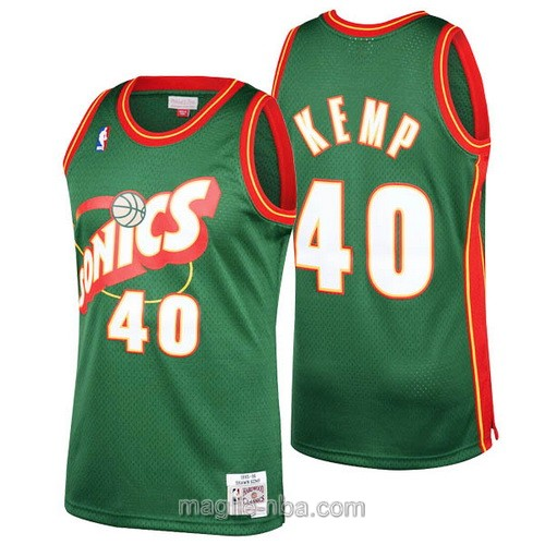 Maglia nba Seattle SuperSonics #40 Shawn Kemp verde