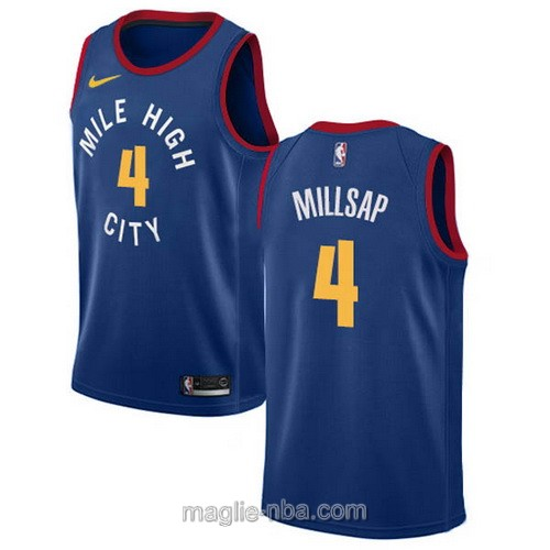 Maglia nba Statement Edition Nike Denver Nuggets #4 Paul Millsap