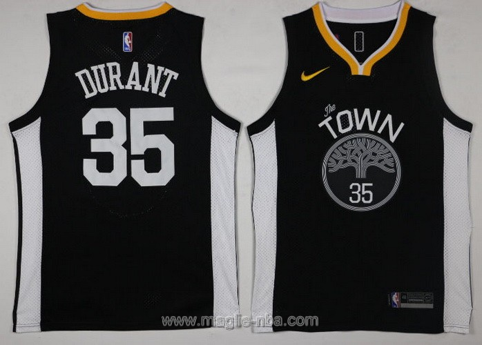 Maglia nba Swingman Golden State Warriors Kevin Durant #35 2017 2018 nero
