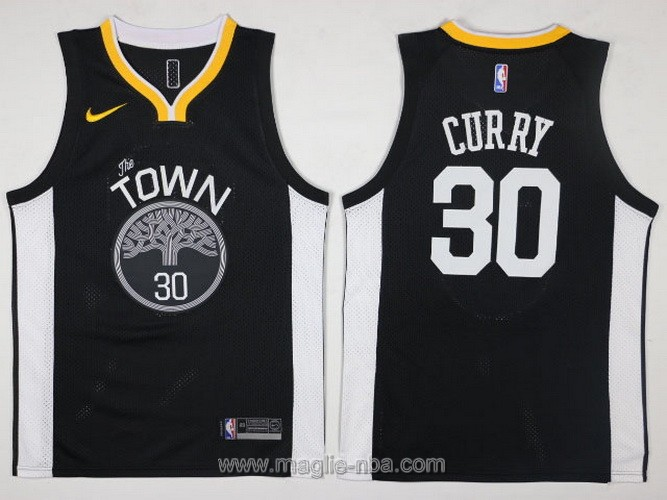 Maglia nba Swingman Golden State Warriors Stephen Curry #30 2017 2018 nero