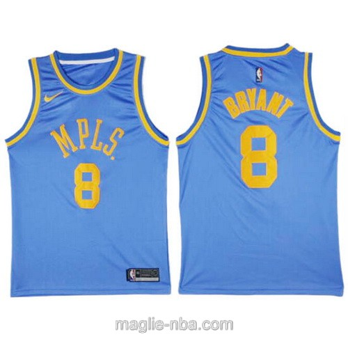 Maglia_nba_Swingman Throwback Los Angeles Lakers #8 Kobe Bryant blu