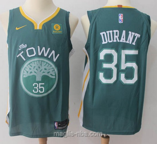 Maglia nba Throwback Swingman Golden State Warriors #35 Kevin Durant 2018 verde
