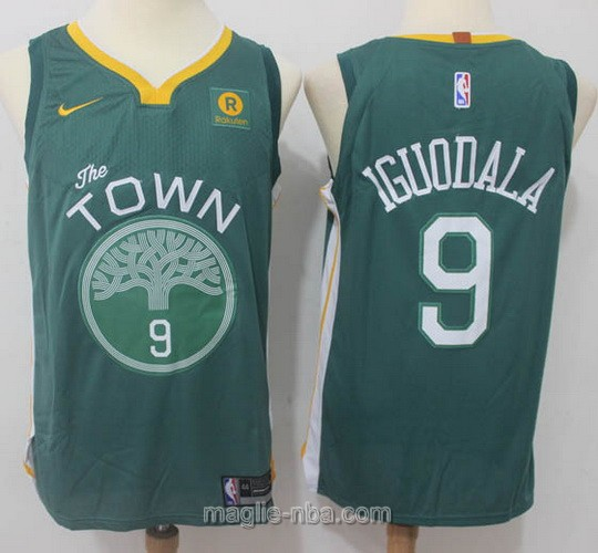 Maglia nba Throwback Swingman Golden State Warriors #9 Andre Iguodala 2018 verde