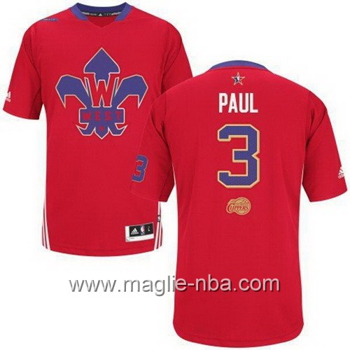 Maglia nba All Star Game 2014 Chris Paul #3 rosso