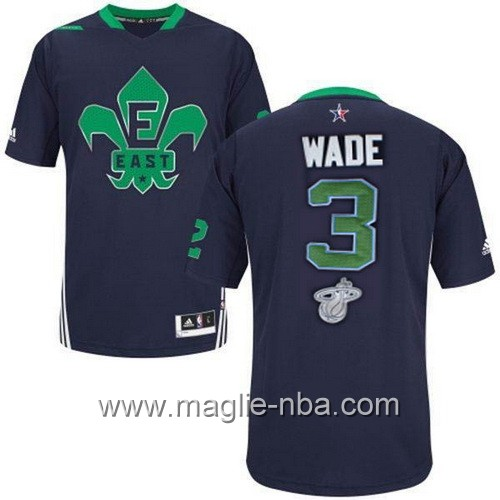 Maglia nba All Star Game 2014 Dwyane Wade #3 blu marino
