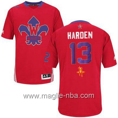 Maglia nba All Star Game 2014 James Harden #13 rosso