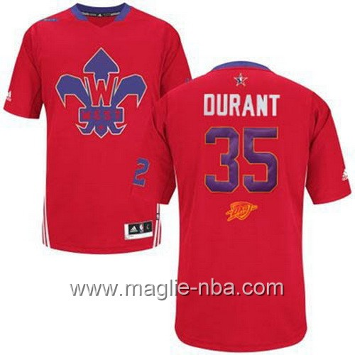 Maglia nba All Star Game 2014 Kevin Durant #35 rosso
