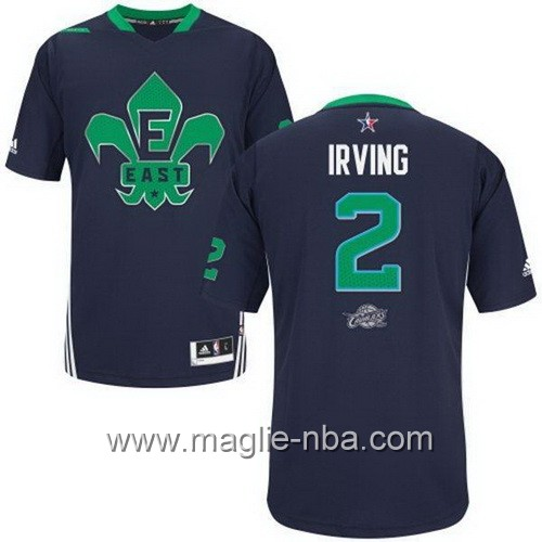 Maglia nba All Star Game 2014 Kyrie Irving #2 blu marino