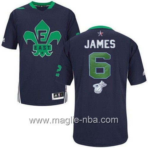 Maglia nba All Star Game 2014 LeBron James #6 blu marino