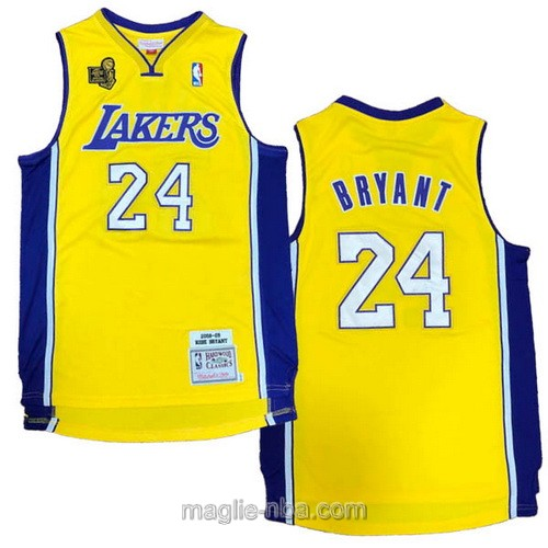 Maglia nba campionato Los Angeles Lakers #24 Kobe Bryant 2009-10 giallo