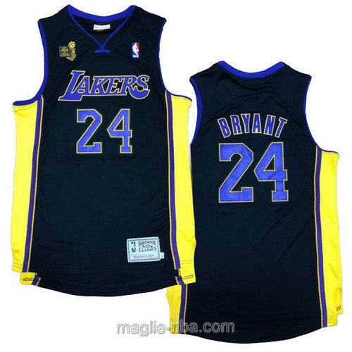 Maglia nba campionato Los Angeles Lakers #24 Kobe Bryant 2009-10 nero