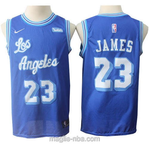 Maglia nba throwback Nike Los Angeles Lakers #23 LeBron James blu