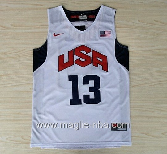 Maglie Basket USA 2012 Chris Paul #13 bianco