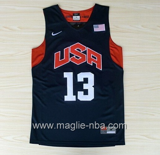 Maglie Basket USA 2012 Chris Paul #13 blu marino