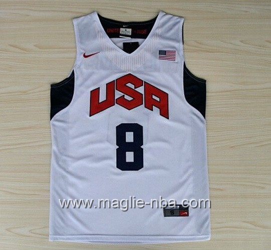 Maglie Basket USA 2012 Deron Williams #8 bianco
