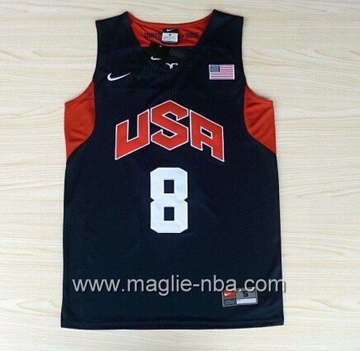 Maglie Basket USA 2012 Deron Williams #8 blu marino