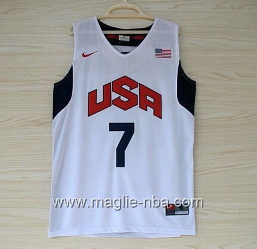Maglie Basket USA 2012 Russell Westbrook #7 bianco