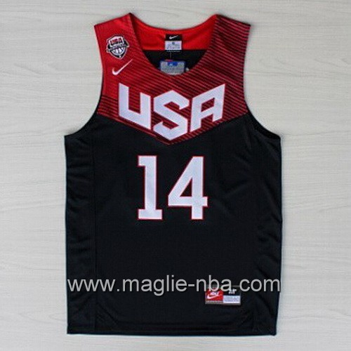 Maglie Basket USA 2014 Anthony Davis #14 nera