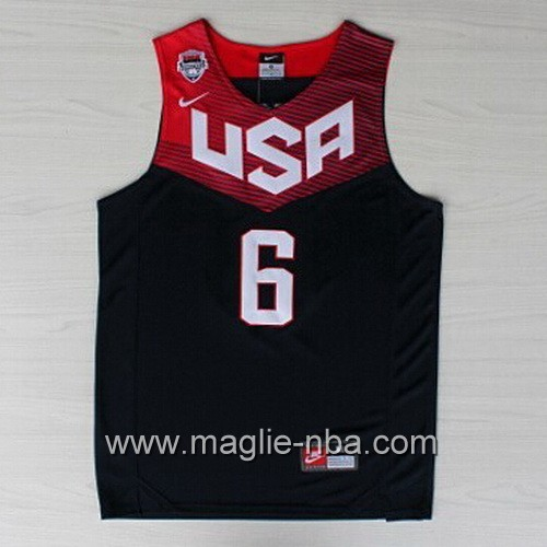 Maglie Basket USA 2014 Derrick Rose #6 nera