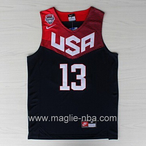 Maglie Basket USA 2014 James Harden #13 nera