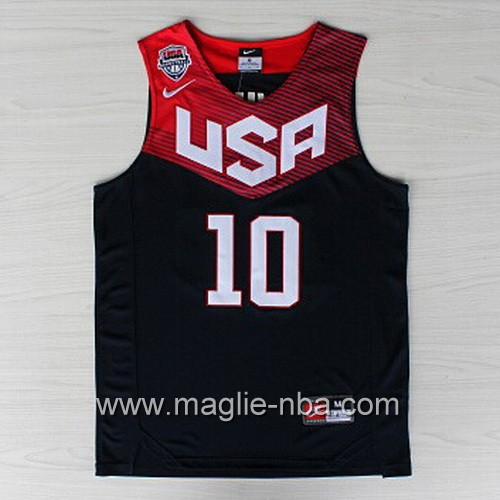 Maglie Basket USA 2014 Kyrie Irving #10 nera