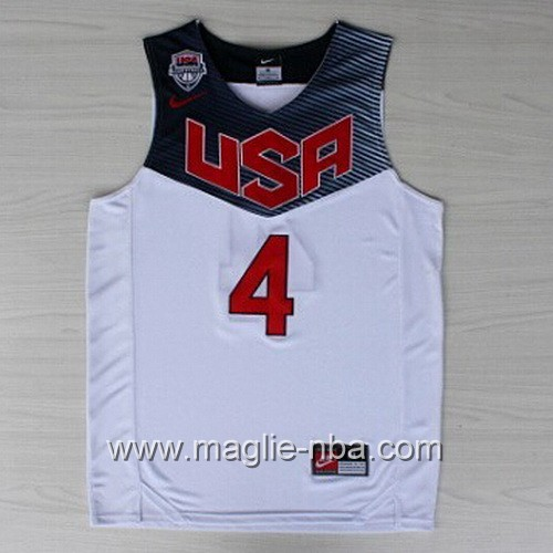 Maglie Basket USA 2014 Stephen Curry #4 bianco