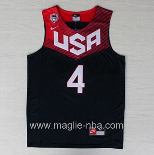 Maglie Basket USA 2014 Stephen Curry #4 nera