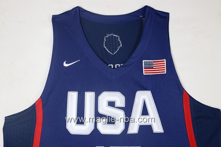 Maglie Basket USA Cameron Anthony #15 USA Olimpiadi 2016 Blu