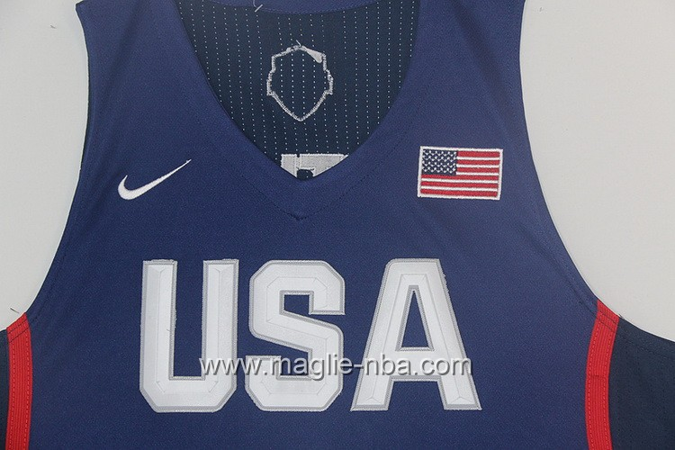 Maglie Basket USA Jimmy Butler #4 USA Olimpiadi 2016 Blu