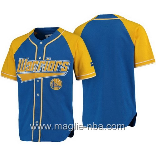 Maglie NBA a maniche corte Golden State Warriors blu