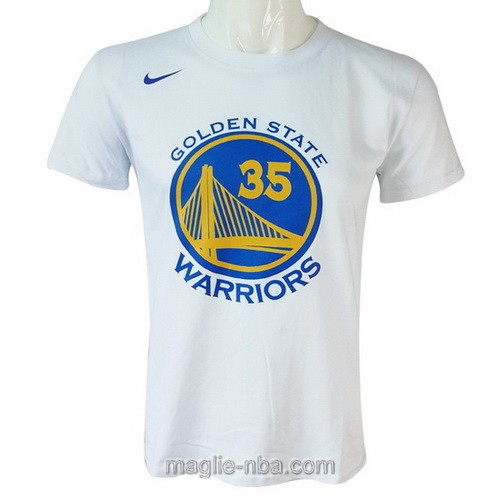 Maglie manica corta Golden State Warriors Kevin Durant #35 bianco