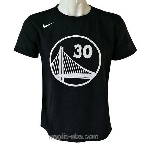 Maglie manica corta Golden State Warriors Stephen Curry #30 nero