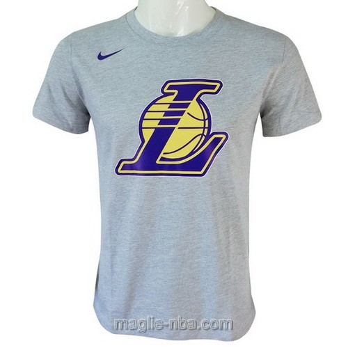 Maglie manica corta Los Angeles Lakers grigio