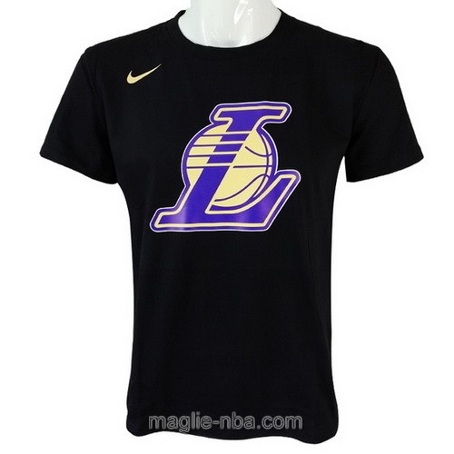 Maglie manica corta Los Angeles Lakers nero