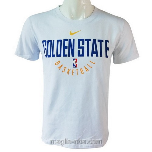 Maglie manica corta Nike Golden State Warriors bianco