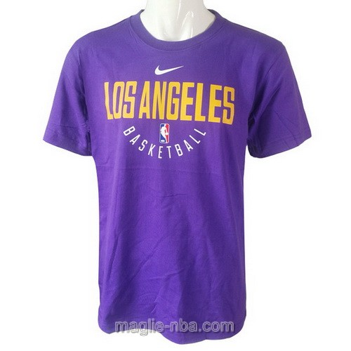 Maglie manica corta Nike Los Angeles Lakers porpora