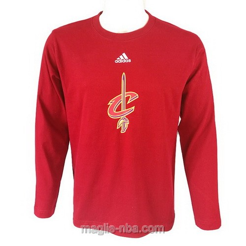 Maglie manica lunga Cleveland Cavaliers rosso