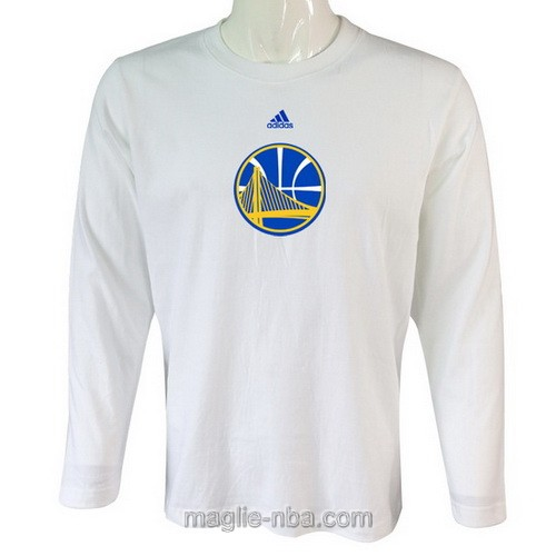 Maglie manica lunga Golden State Warriors bianco