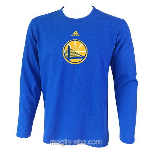Maglie manica lunga Golden State Warriors blu