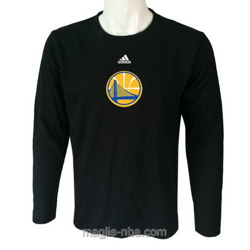 Maglie manica lunga Golden State Warriors nero