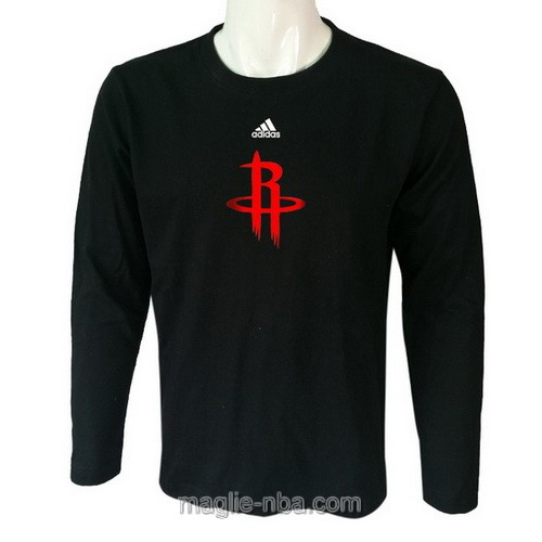Maglie manica lunga Houston Rockets nero