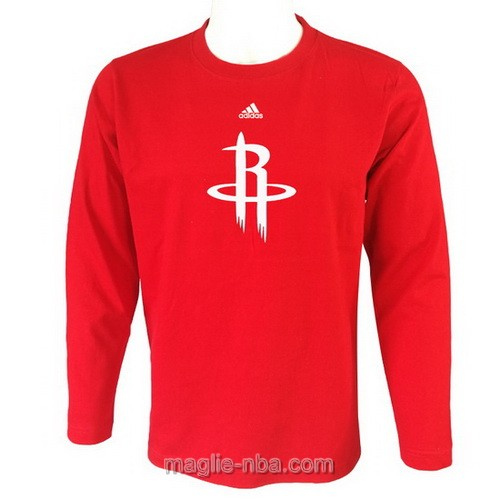 Maglie manica lunga Houston Rockets rosso