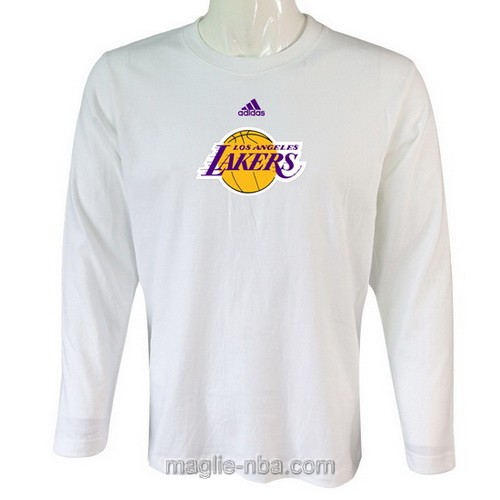 Maglie manica lunga Los Angeles Lakers bianco