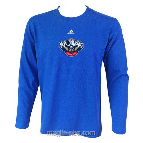 Maglie manica lunga New Orleans Pelicans blu